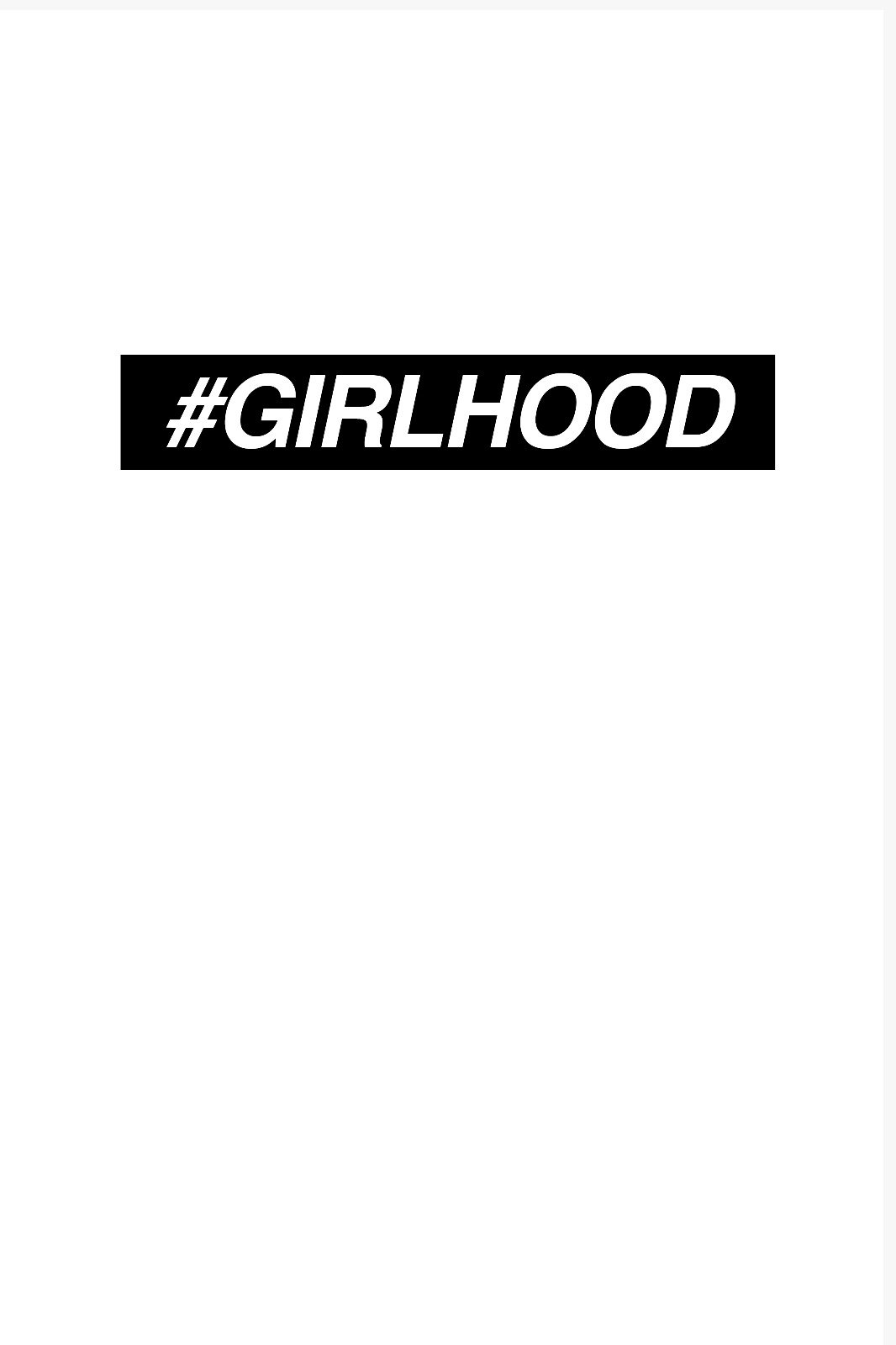 GIRLHOOD cover